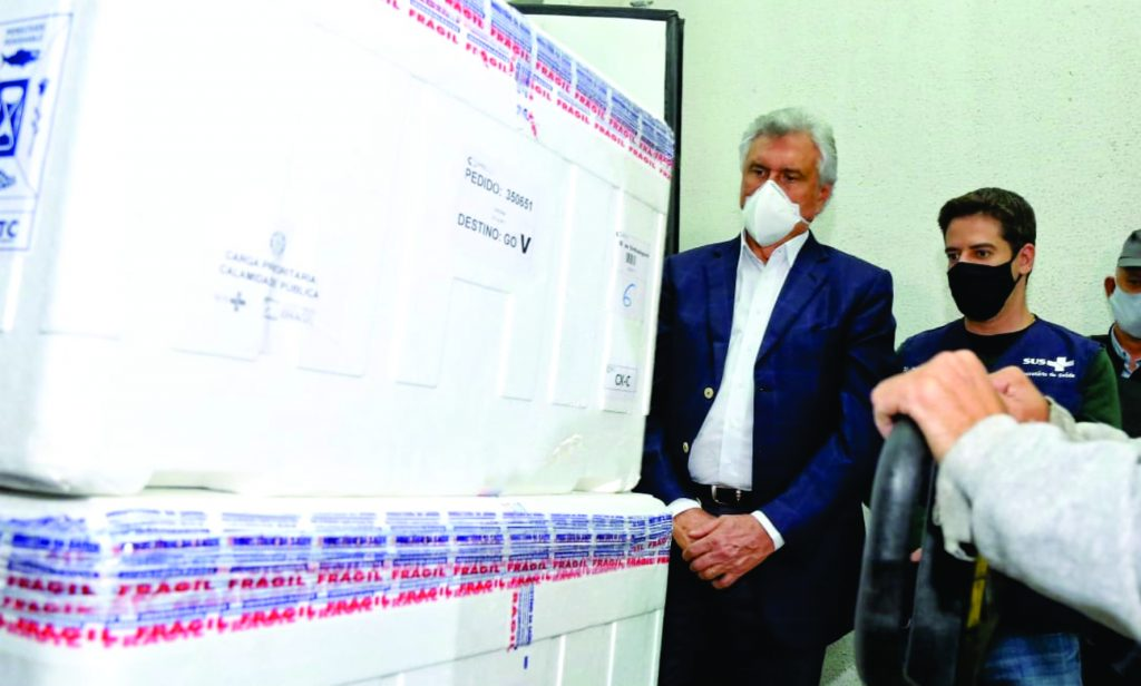 Goiás recebe 131.850 vacinas contra Covid-19 na madrugada desta sexta-feira, 14