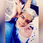 Mãe comemora o nascimento de bebê com anticorpos contra a Covid-19, em Goiânia: 'Maior realização'